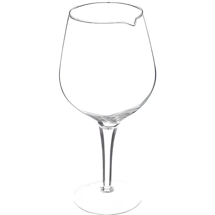Service et présentation des alcools - Carafe en forme de verre à pied - 1,7 L - Verre 30 cm