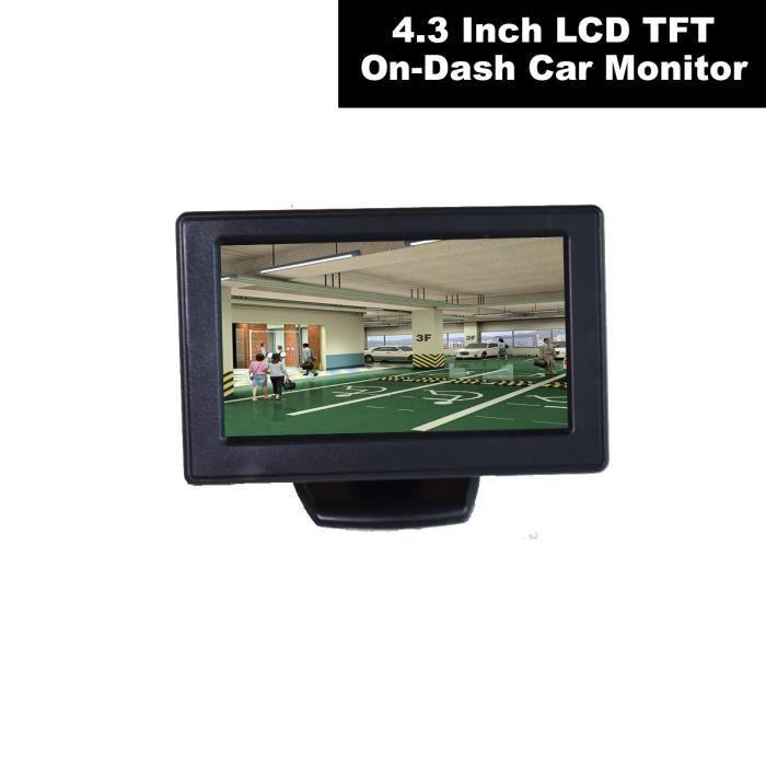 DC 12V 4.3-couleur TFT LCD Voiture Auto Écran Moniteur pour Caméra de Recul Magnétoscope DVD