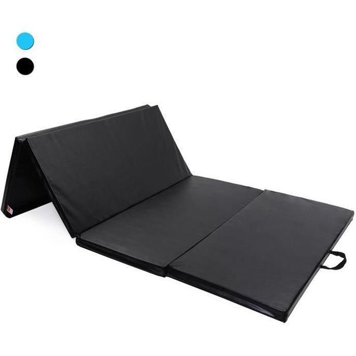 ISE Tapis de Sol 240cm Tapis de gymnastique pliable natte de gym matelas fitness 240 x 120 x 5 cm NoirSY-3004-BK