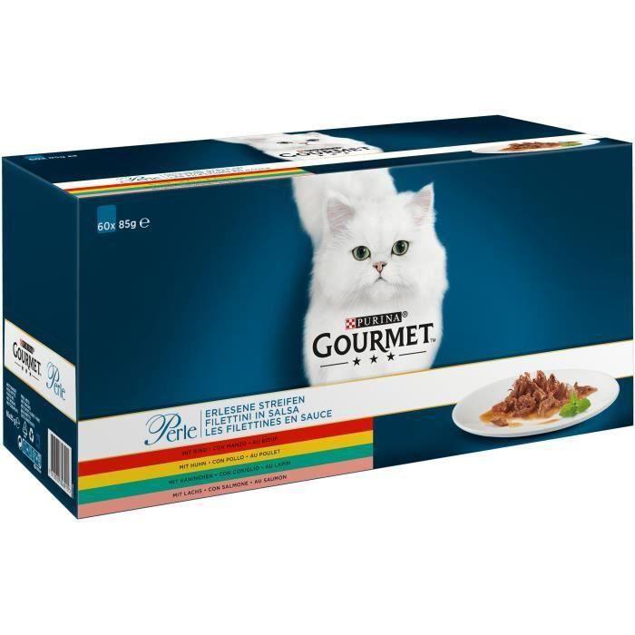 GOURMET PERLE Les Filettines en Sauce Multivariétés-60x85g KK93