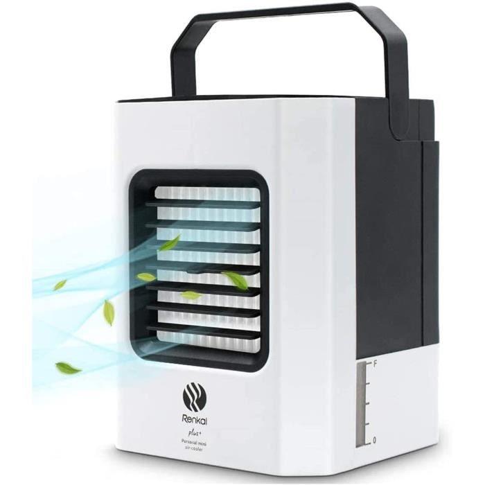 Climatiseur Mobile, Mini Climatiseur Portable avec Humidificateur d'Air, Fonction de Purification de l'Air, 3 Vitesses, Alimen[273]