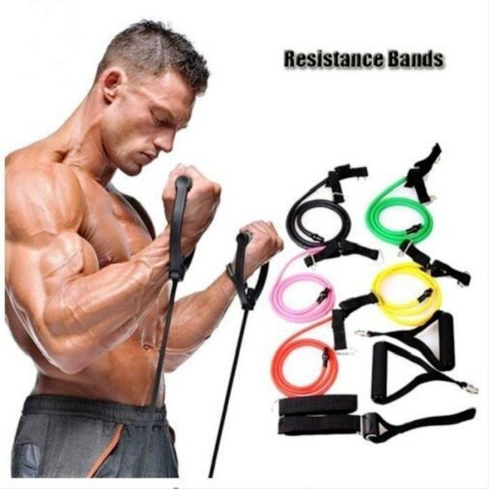 support élastique au poignet Bandes de résistance de fitness jaune Tubes de corde de résistance Cordes d'exercice Bandes d'exercice