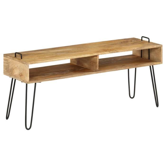 Meuble TV Moderne - Meuble HI-FI Meuble de rangement Bois de manguier massif 110 x 35 x 45 cm Haute qualité #29855