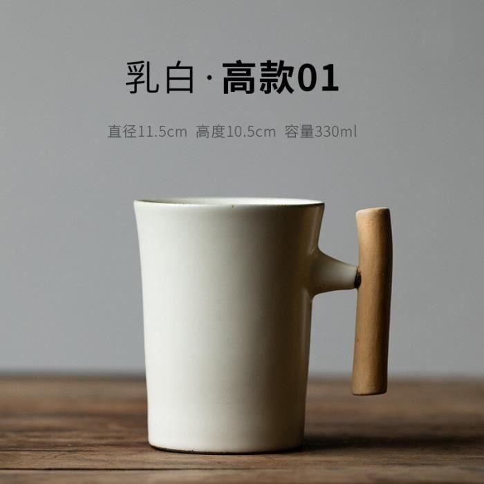 Tasse à café,Tasse à café en céramique Style européen,Couple Simple,grande tasse à café nordique rétro - Type WHITE - 200-400ml