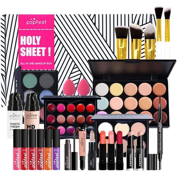Ensembles de Maquillage, Kit Maquillage Femme Complet Tout-en-Un Kit de Démarrage Essentiel de Maquillage pour Les Femmes Filles Idé