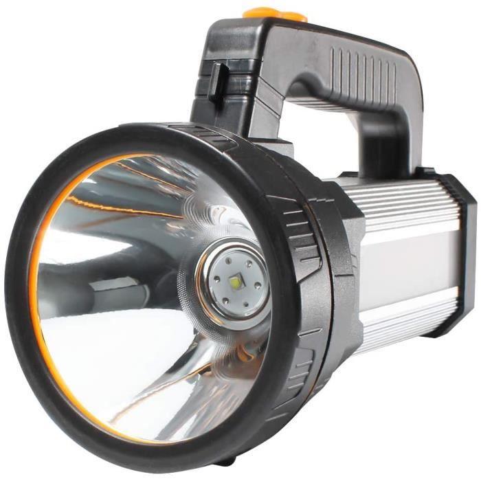 AF-WAN Troch Lampe torche LED rechargeable super lumineuse 7000 lumens 9000 mAh étanche 6 modes d'éclairage Lampe torche LED po A305