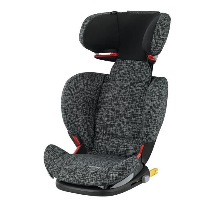 BEBE CONFORT Siège auto Groupe 2/3 Rodifix Air Protect® Black Grid Isofix - 4 ans
