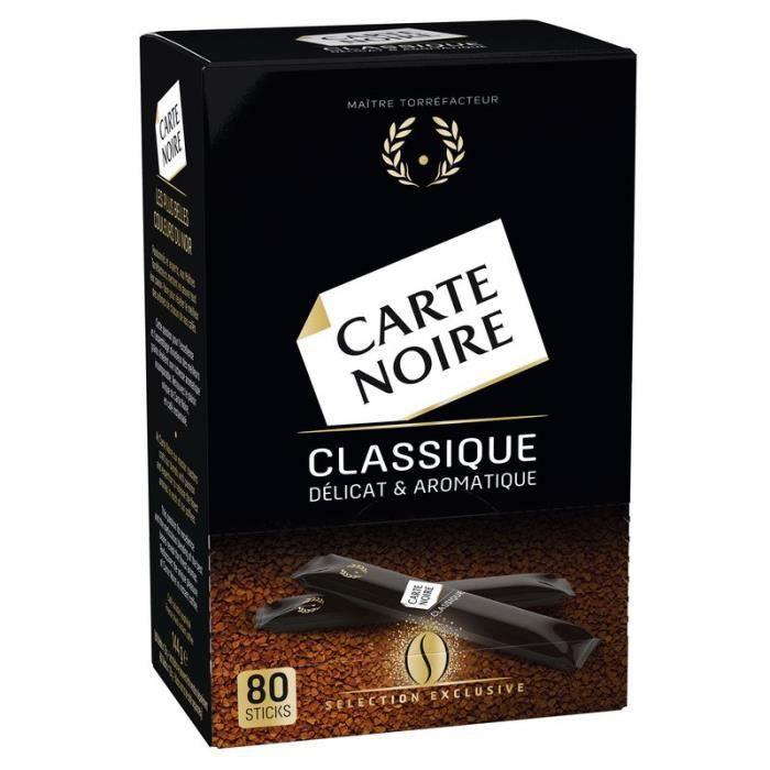 CARTE NOIRE Café soluble en stick - 144 g