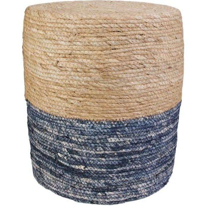 THE HOME DECO FACTORY Pouf Blue Lagoon M2 - Bleu