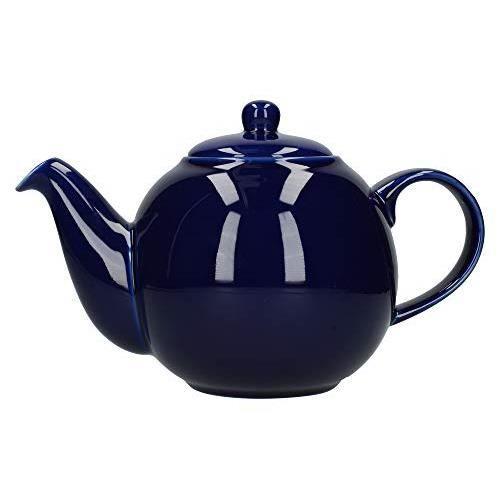 London Pottery 6 Cup Globe Teapot Cobalt Blue 30190