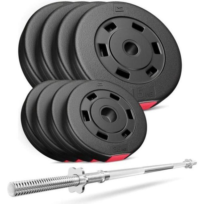 HS Hop-Sport Set PREMIUM de 39kg HS Hop-Sport Set PREMIUM de 39kg (1x barre 167cm / 4x5kg + 4x2,5)