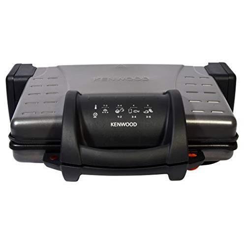 Kenwood hg210 – Grill Compact (2100 W, plaques antiadhésives et amovibles, 3 positions, ouverture 180 degrés, plate 0WHG21000