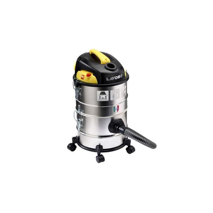 Aspirateur modulable LAVOR 1200 W 4 en 1 Eau Poussières Cendres + soufflant- Filtre Nylon lavable Cuve 2 x 14 Litres