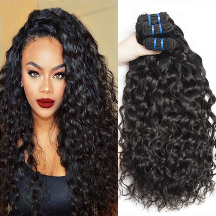 3 Pieces tissage bresilien water wave hair naturel 100grams/piece