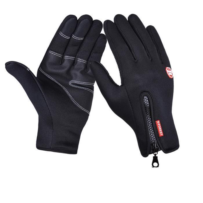 Gant Moto Vélo Homme Femme Antidérapant Gants d'écran Tactile Protection Sport Chaud