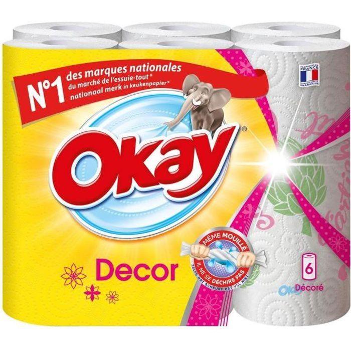 OKAY Essuie-tout Original - 6 rouleaux - Décoré