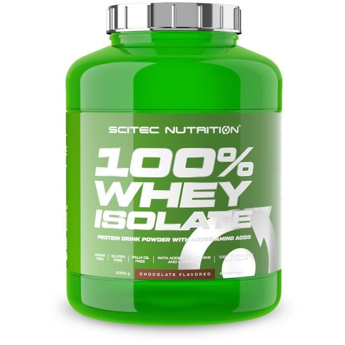 100% Whey Isolate 2000g CHOCOLAT SCITEC NUTRITION Proteine ISO 2kg