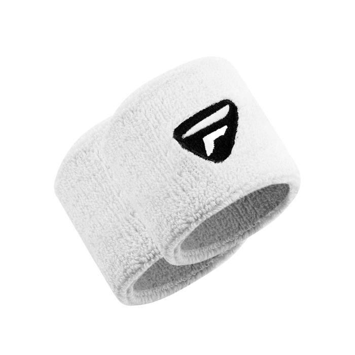 Poignets Tecnifibre Poignets Blanc x2 coloris White - Black
