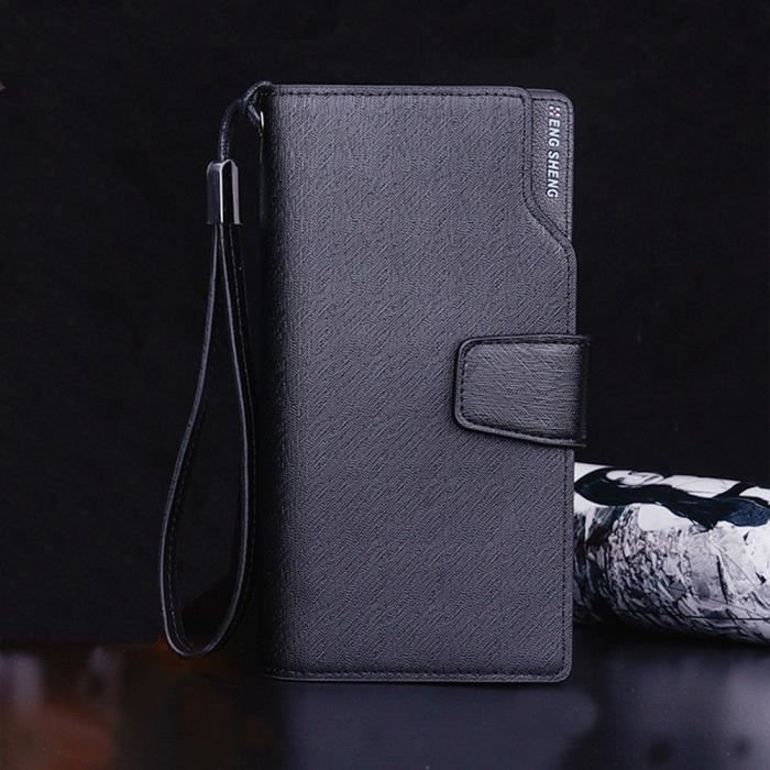 Couleur Mn4223 Position Sac Moraillon Mode Solide Wallet Noir Homme Card Multi w7P4Uwf1qx