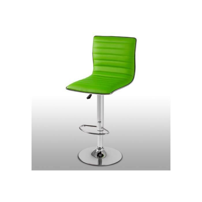 tabouret de bar l gant et confortable vert achat vente tabouret de bar vert cdiscount. Black Bedroom Furniture Sets. Home Design Ideas