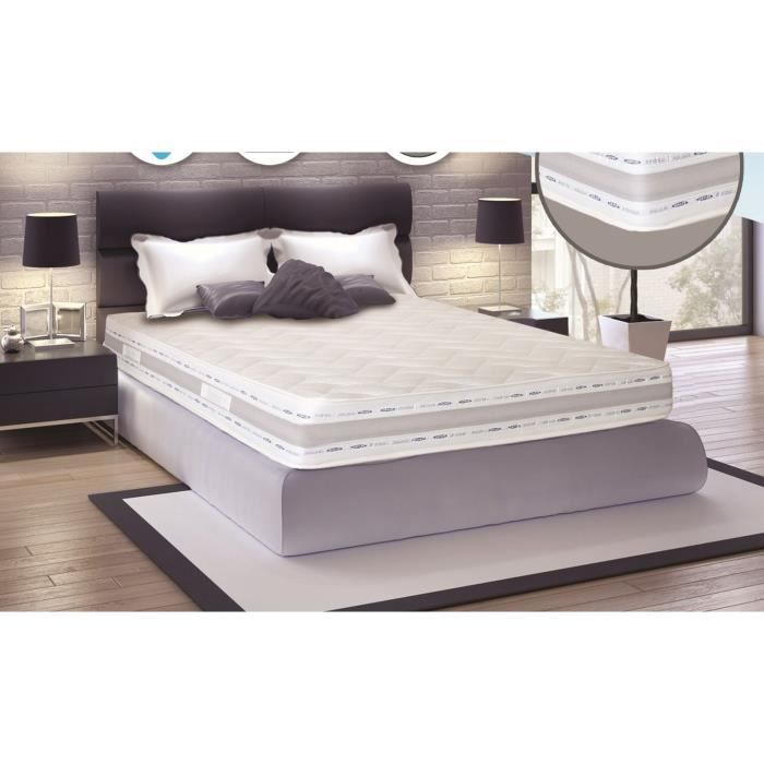 matelas memoire de forme 200x200 achat vente pas cher. Black Bedroom Furniture Sets. Home Design Ideas