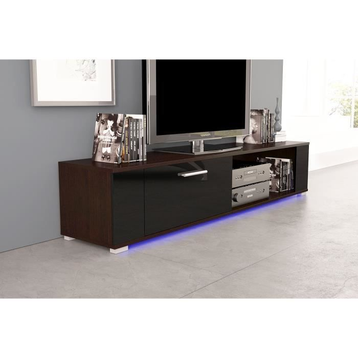 meuble tv orkus wenge noir brillant avec led achat vente meuble tv meuble tv orkus wenge. Black Bedroom Furniture Sets. Home Design Ideas