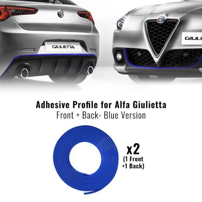 Profil/é autocollant rouge pour pare-chocs avant Alfa Giulietta