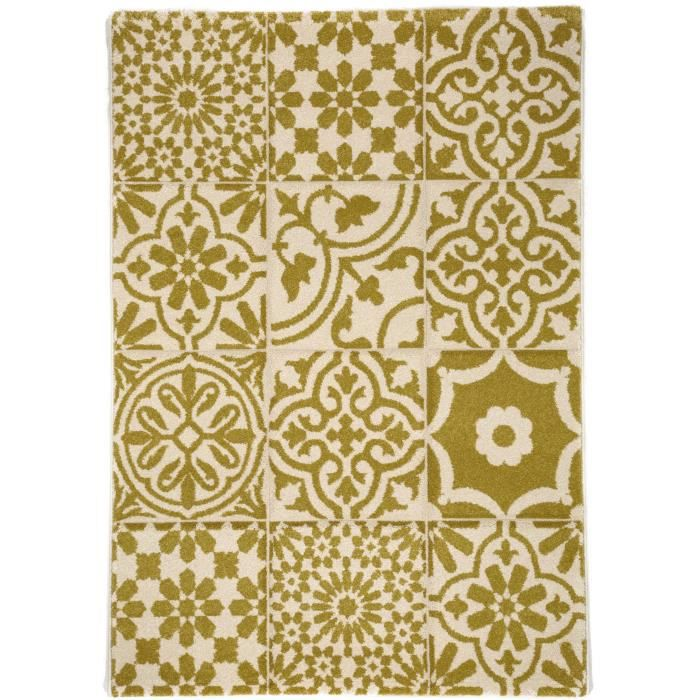 benuta tapis patchwork mosaico jaune 80x150 cm achat vente tapis soldes cdiscount. Black Bedroom Furniture Sets. Home Design Ideas
