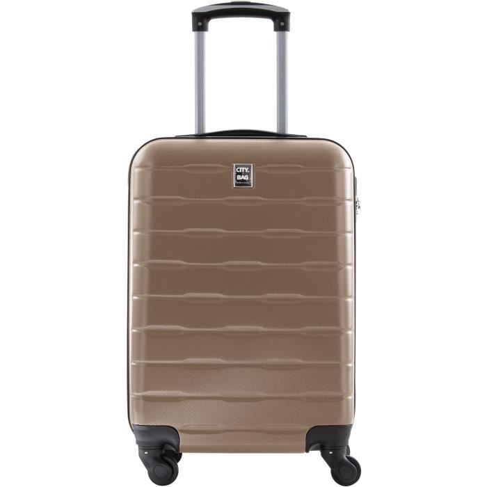 VALISE - BAGAGE CITY BAG Valise Cabine Ultralight ABS 4 Roues Cham