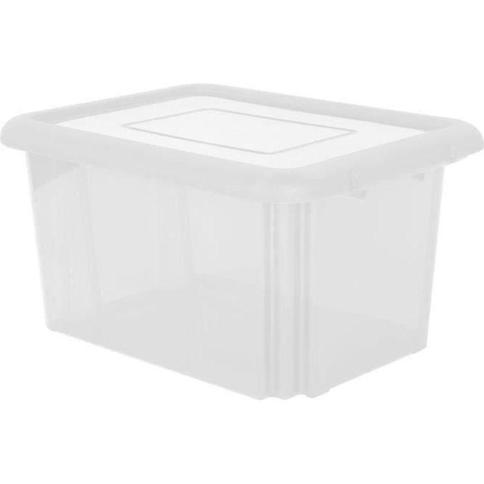 Boîte de rangement avec couvercle Box Lagerbox Conservation Caisse Caisse claire 17 L
