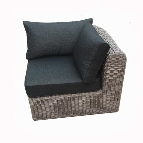 fauteuil d 39 angle libertad taupe achat vente fauteuil gris cdiscount. Black Bedroom Furniture Sets. Home Design Ideas
