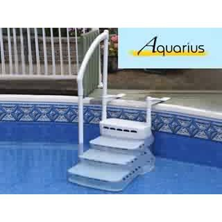 escalier piscine aquarius pvc 4 marches main co achat. Black Bedroom Furniture Sets. Home Design Ideas