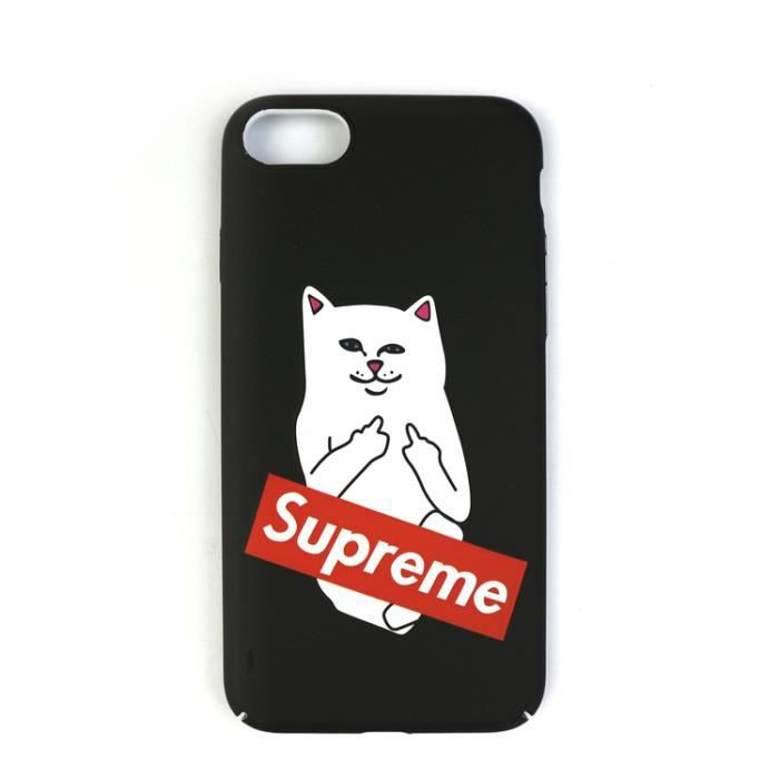 Coque iPhone 8-7,Supreme Chat Coque Compatible iPhone 8-7 ...