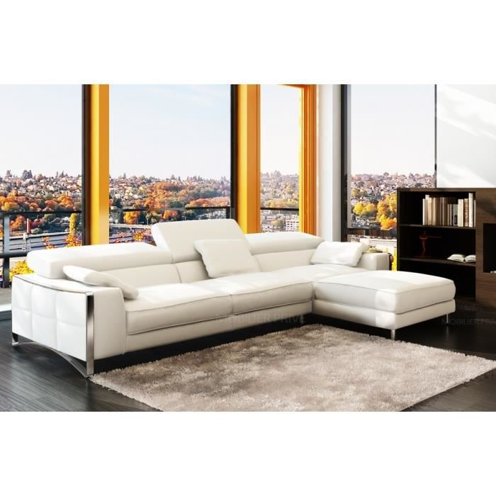 canap d 39 angle en cuir italien 5 places suede achat vente canap sofa divan cdiscount. Black Bedroom Furniture Sets. Home Design Ideas