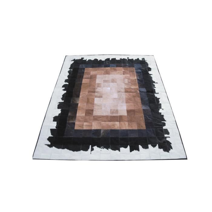 carlotta tapis patchwork peau de vache 180x210 achat vente tapis cdiscount. Black Bedroom Furniture Sets. Home Design Ideas