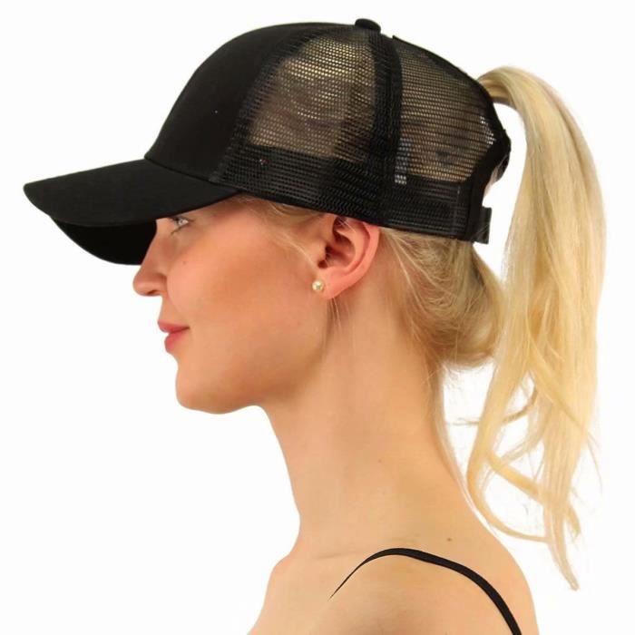 casquette femme pour queue de cheval
