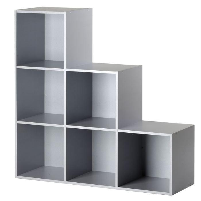 Cube 6 Niches Escalier Gris Achat Vente Casier Pour Meuble Mdf Panneaux De Fibres A Moyenne Densite Cdiscount
