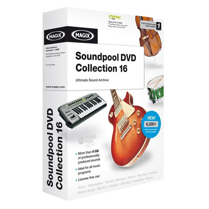 Magix soundpool dvd collection 16 for music maker