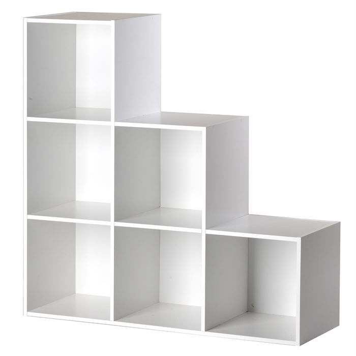 cube 6 niches escalier blanc achat vente boite de. Black Bedroom Furniture Sets. Home Design Ideas