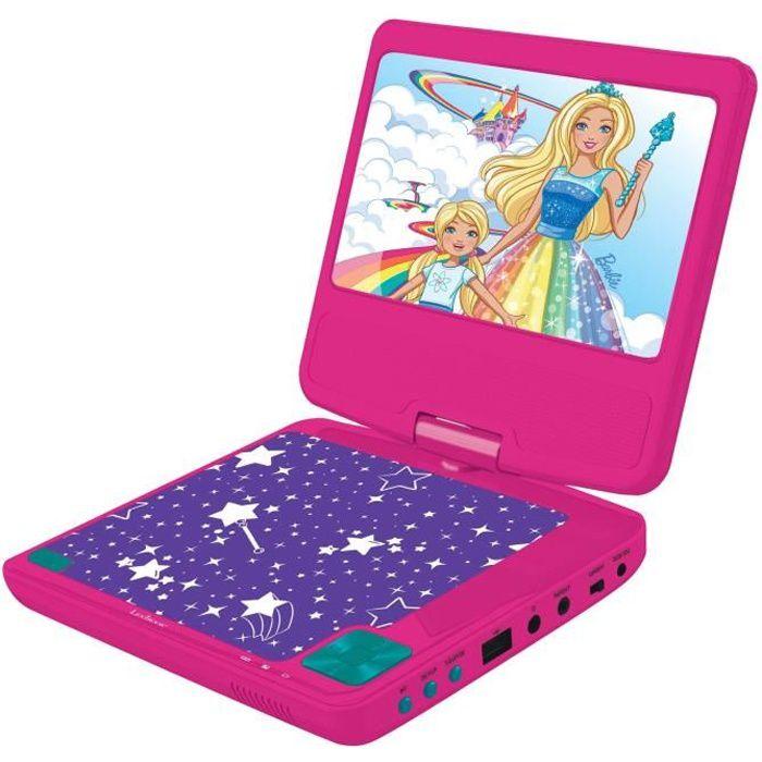 BARBIE Lecteur DVD Écran LCD Portable 7