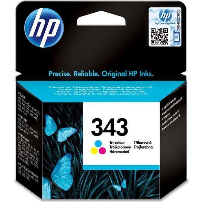 Hp 343 cartouche d'encre trois couleurs authentique pour Hp Photosmart 2570/C3170 et Hp Psc 1510/1600 (C8766ee)