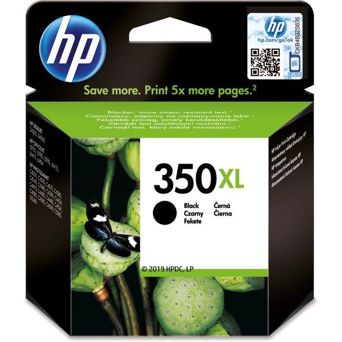 Hp 350Xl cartouche d'encre noire grande capacité authentique pour Hp Photosmart C4380/C4472/C4580/C5280 (Cb336ee)