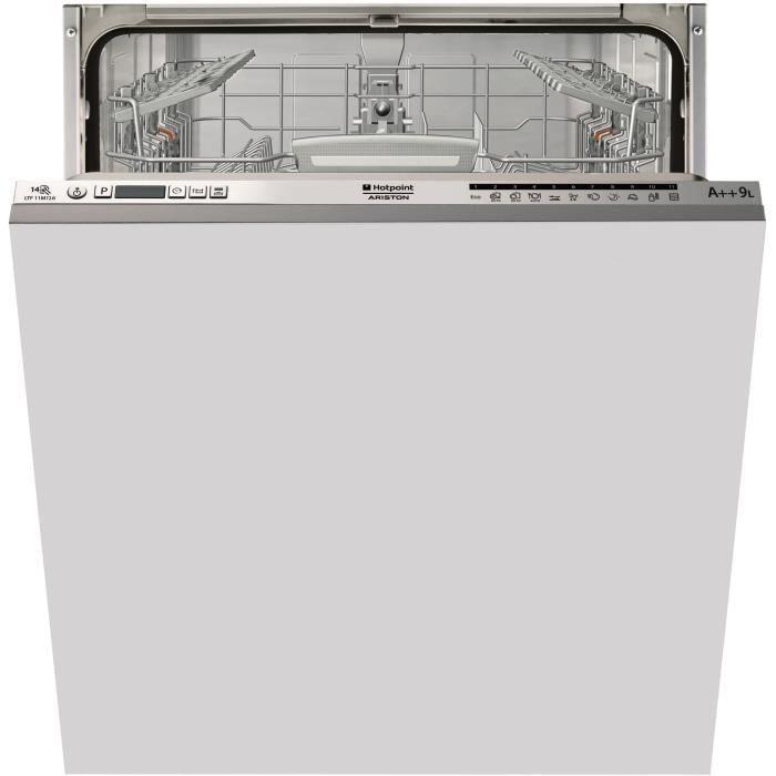 HOTPOINT LTF11M126EU - Lave-vaisselle tout encastrable - 14 couverts - 46dB - A++ - Larg. 59,8cm