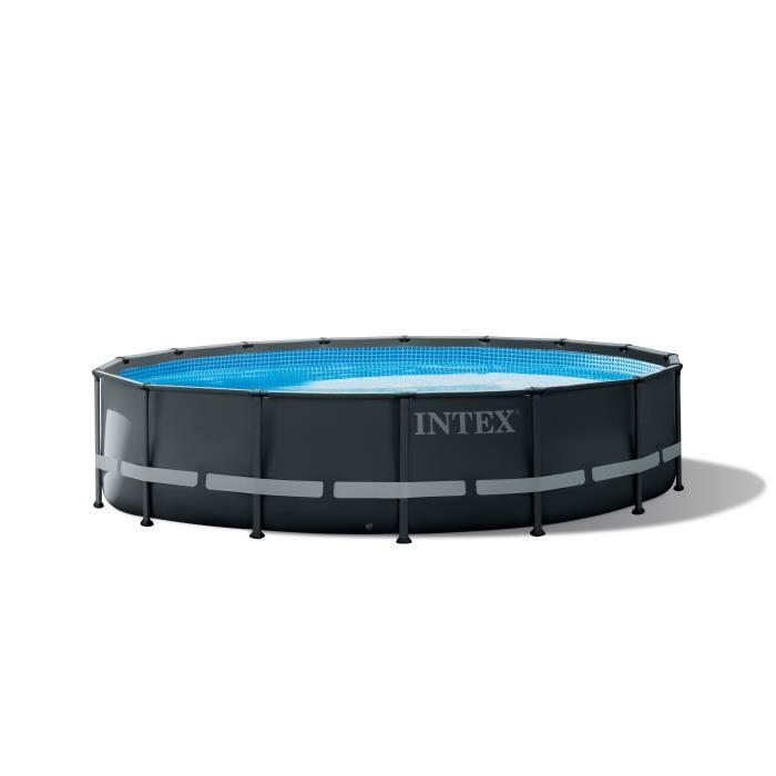 Kit Piscine tubulaire INTEX Ultra Frame - Rond - 4,88 x 1,22 m