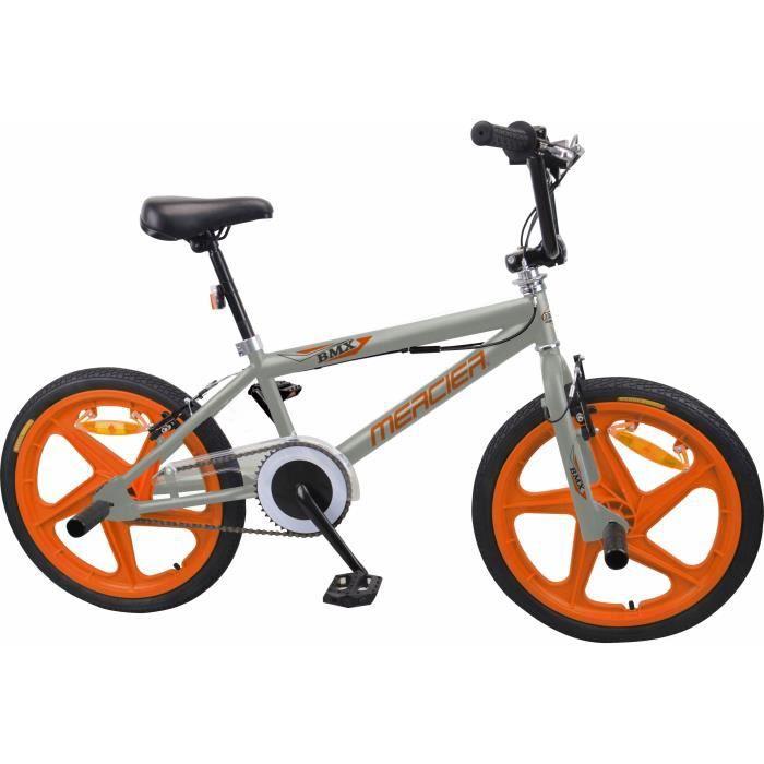 MERCIER Vélo BMX Freestyle 20- 4 Pegs ROUES BATONS - Gris & Orange