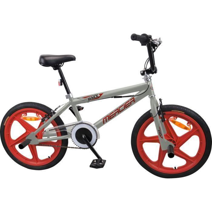 MERCIER Vélo BMX Freestyle 20- 4 Pegs ROUES BATONS - Gris & Rouge