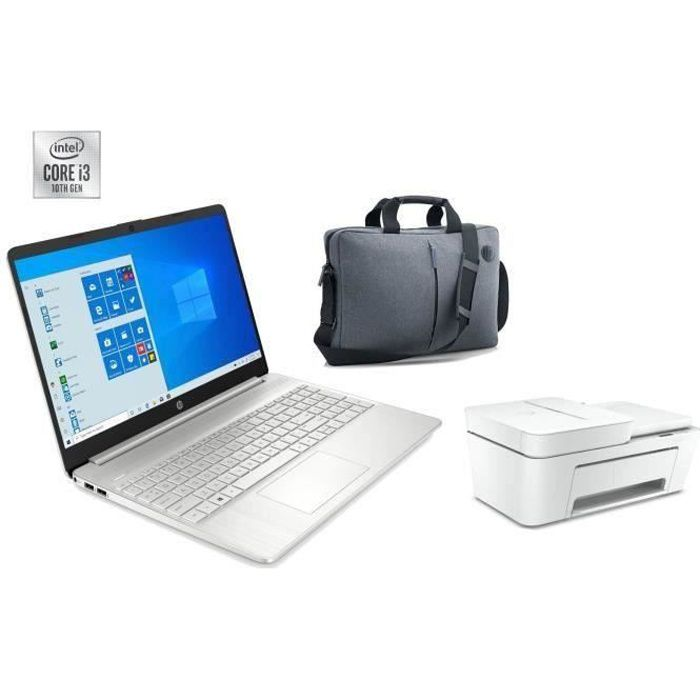 "Pack HP PC Portable 15S-FQ1036NF - 15""HD - Processeur Intel® Core™ i3-1005G1 - RAM 4Go - Stock"