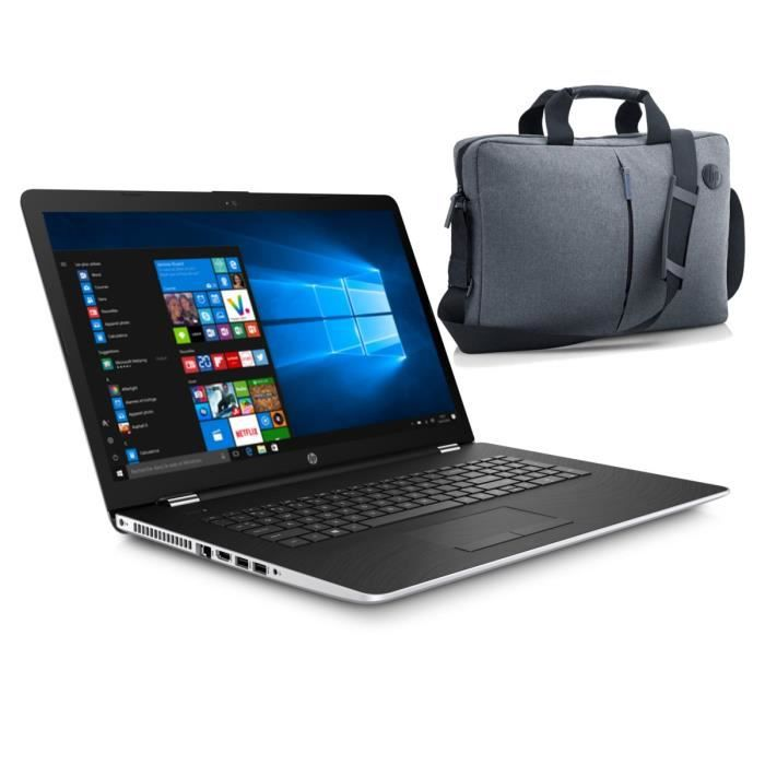 Hp pc portable 17.3 17bs006nf 4 go de ram windows 10 intel core i5 7200u amd radeon disque dur 1 to housse