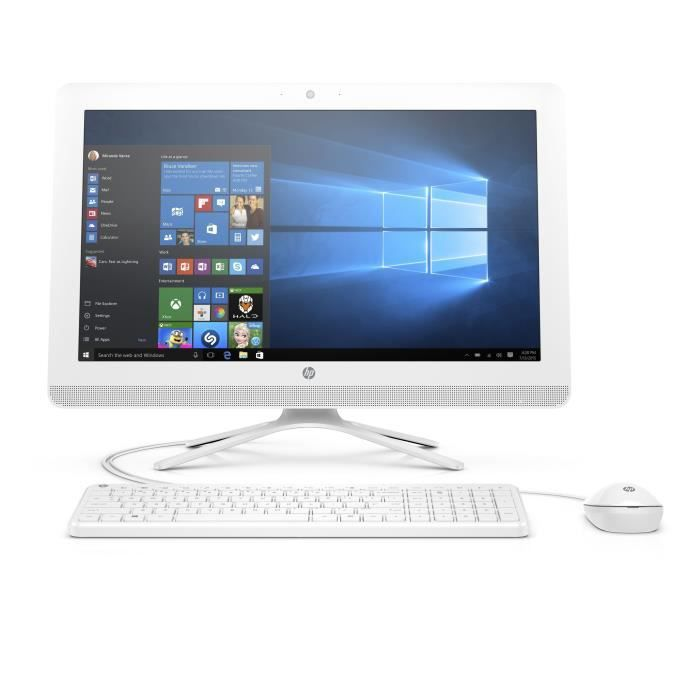 Ordinateur Tout-en-un - HP 22-b336nf - Core i3-7100U - 4Go de RAM - Disque Dur 2To HDD - Windows 10
