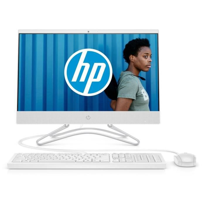 HP PC Tout-en-un 22-c0046nf 21.5'' FHD IPS - AMD A6 - RAM 8 Go - Stockage 1 To + SSD 128 Go - Clavier et Souris inclus - Windows 10